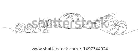 セット 白パン ベーカリー アイコン 白 ストックフォト © aliaksandra