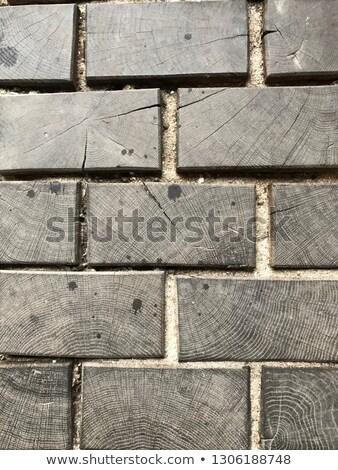 коричневый тротуар форме крестов бесшовный строительство Сток-фото © tashatuvango