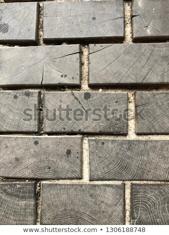 brown pavement in the form of crosses stock photo © tashatuvango