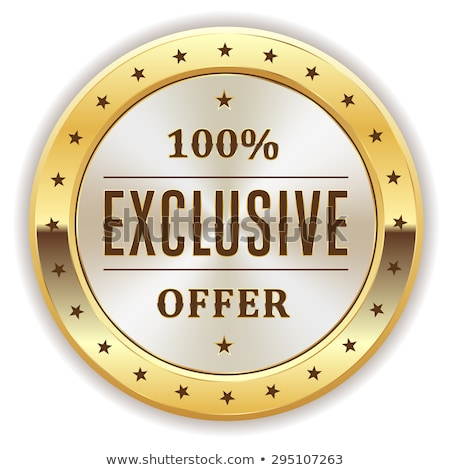 Exclusive Offer Gold Vector Icon Button Stock photo © rizwanali3d