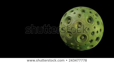 3D zöld hangszóró hang bolygó fekete Stock fotó © Melvin07