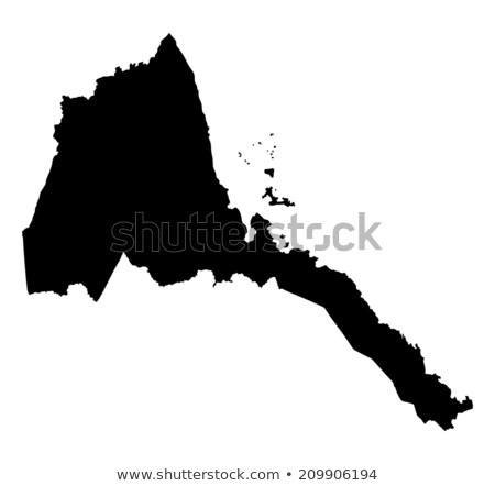 Sylwetka Pokaż Erytrea podpisania biały napis Zdjęcia stock © mayboro