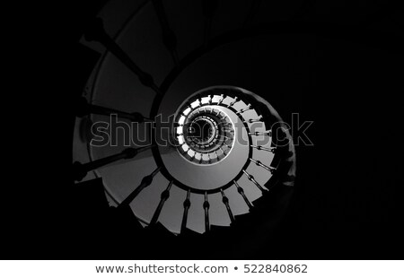 White spiral staircase background stock photo © ymgerman