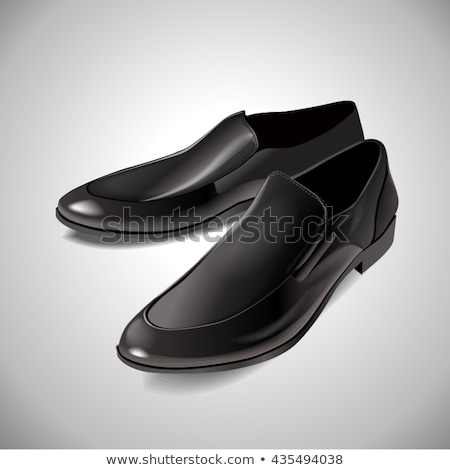 illustration shoes black patent leather on a white background Stock photo © yurkina