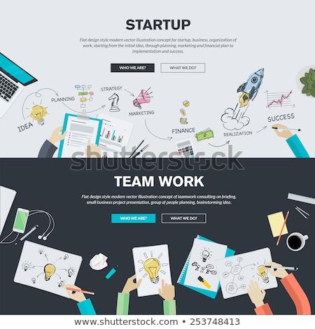 インフォグラフィック · チームワーク · ビジネス · ベクトル · 要素 · 孤立した - ストックフォト © davidarts