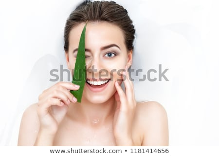 Aloe sabun güzellik banyo cilt spa Stok fotoğraf © joannawnuk
