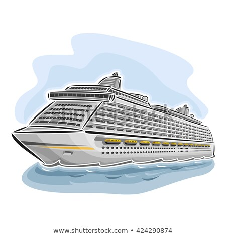 Abstract dek luxe cruiseschip Stockfoto © feverpitch