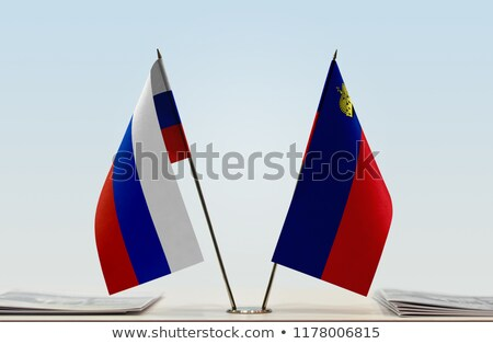 Foto stock: Russia And Liechtenstein - Miniature Flags