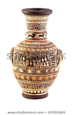clay jug over white Stock photo © taviphoto