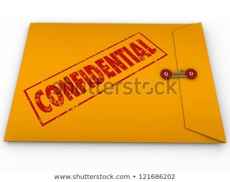 yellow confidential classified envelope secret information stock photo © iqoncept