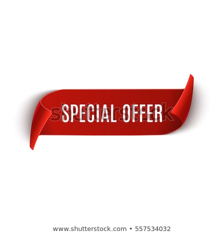 special offer red sticky notes vector icon design stock photo © rizwanali3d