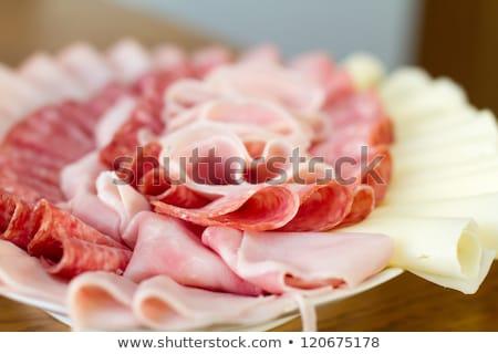 gyönyörű · szeletel · étel · egyezség · sekély · hús - stock fotó © fanfo