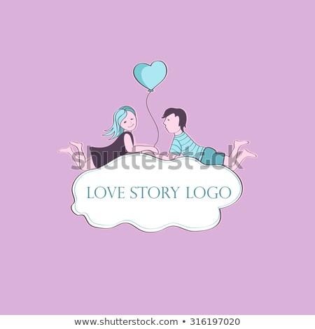 Сток-фото: любви · история · логотип · символ · дизайна · счастливым