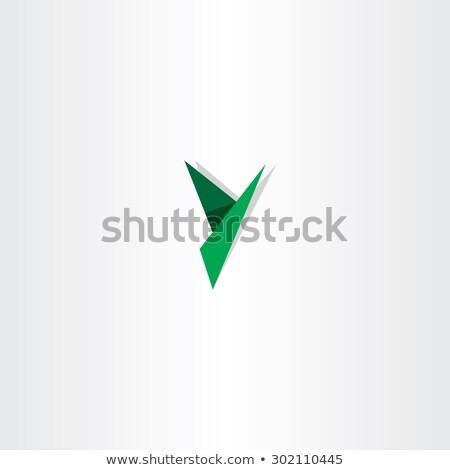 green paper letter y triangles logo Stock photo © blaskorizov