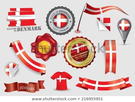 Dinamarca bandera camisa hombre de negocios hombre Foto stock © fuzzbones0