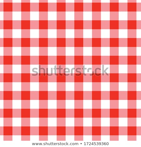 red and white gingham checkered tablecloth background stock photo © feverpitch
