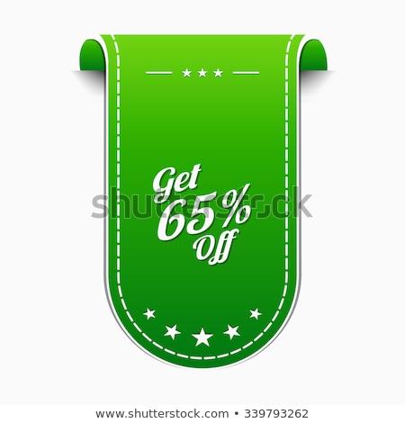 Get 65 Precent Off Green Vector Icon Stock photo © rizwanali3d