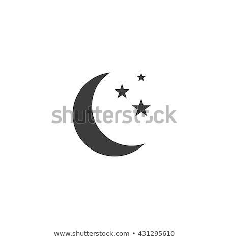 Hold csillag ikon űr éjszaka tudomány Stock fotó © kiddaikiddee