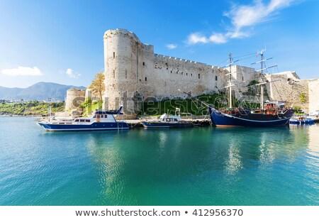 puerto · medieval · castillo · cielo · mar · azul - foto stock © Kirill_M