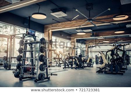 Gym interior bodybuliding weights exercise room Stock photo © lunamarina