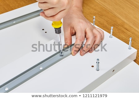 Hardware and Wood Planks for Furniture Assembly Stock photo © ozgur