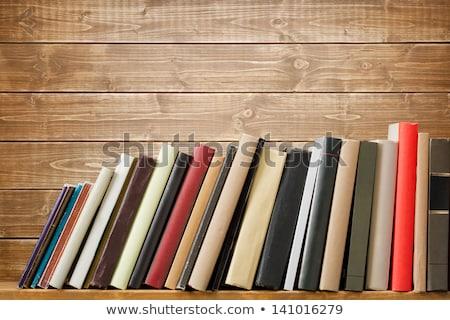 encyclopedie · houten · boekenplank · sluiten · Rood - stockfoto © imaster