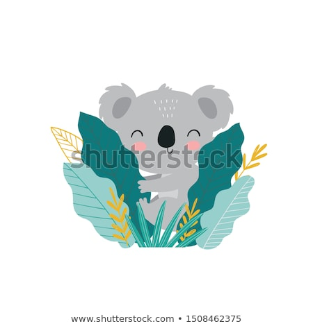 Cute gris Koala illustration souriant bébé Photo stock © Morphart