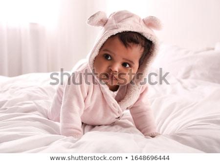 Yalıtılmış beyaz bebek gülümseme arka plan Stok fotoğraf © eleaner