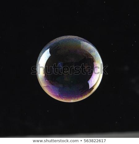 Multi colored soap bubbles on black background Stock photo © orensila