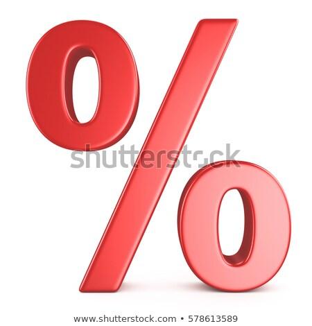 Red percent sign on white Stock photo © cherezoff