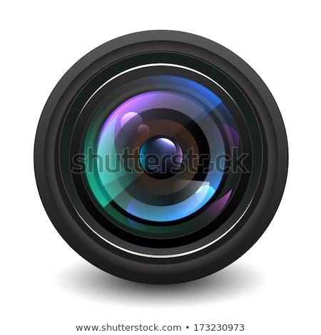 Filmadora violeta vetor ícone projeto digital Foto stock © rizwanali3d