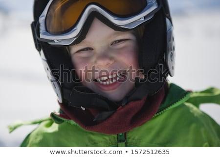 three-year boy in winter clothes Stock photo © RuslanOmega