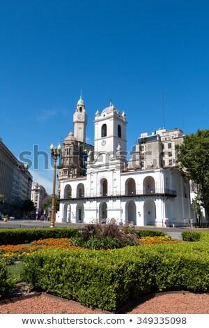 történelmi · épület · Buenos · Aires · központ · ablak · építészet - stock fotó © fotoquique
