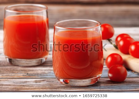 Domates suyu cam yalıtılmış beyaz yaz kırmızı Stok fotoğraf © papa1266