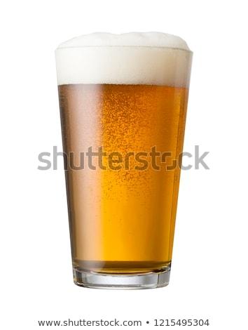 Vidro cerveja luz bar ouro Foto stock © scornejor