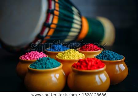 Stock fotó: Kerámia · edény · festék · fesztivál · színek · izolált