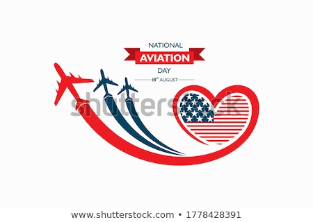American Independence Day Patriotic background. Vector Flat desi Stock photo © jabkitticha