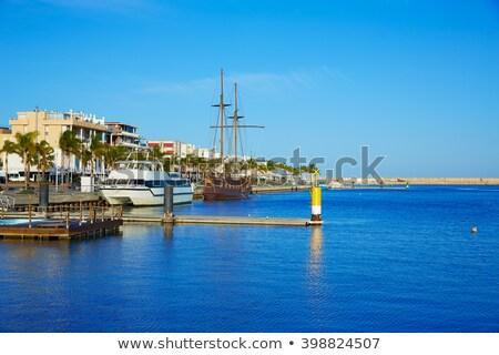 kikötő · promenád · mediterrán · Valencia · Spanyolország · tengerpart - stock fotó © lunamarina