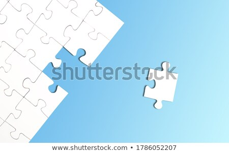 Jigsaw puzzle with one missing piece left to complete Stock photo © stevanovicigor