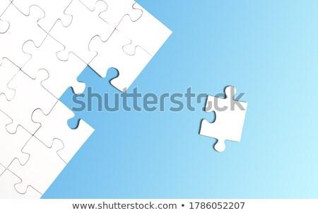 один отсутствующий кусок полный копия пространства Сток-фото © stevanovicigor