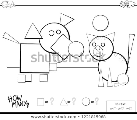 A coloring worksheet with a cat Stock photo © bluering