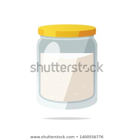 cukru · jar · pusty · suchar · etykiety · odizolowany - zdjęcia stock © kitch