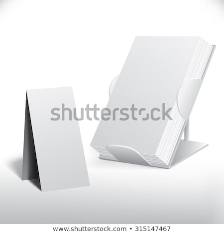 vertical white posters flyers mockup stock photo © trikona
