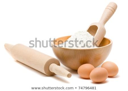 Sch ssel mehl ei essen kuchen kochen stock for Kuchenstudio essen