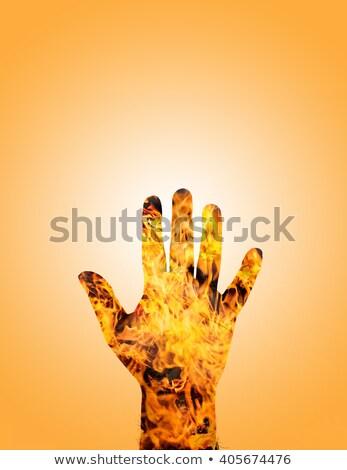 Mano uomo fuoco filtrare design sfondo Foto d'archivio © bank215