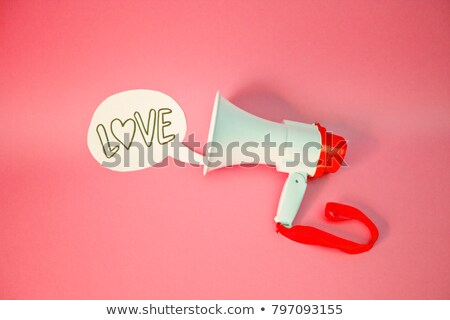 Isolated megaphone with heart symbol Stock photo © adrian_n