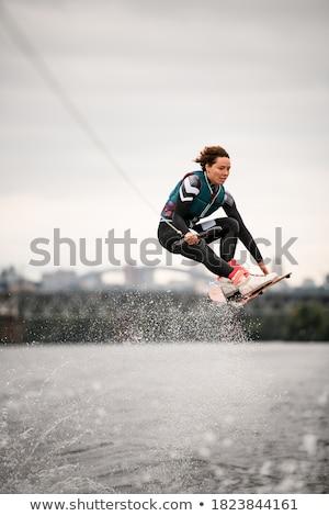 professional wakeboard sports woman stock photo © rastudio