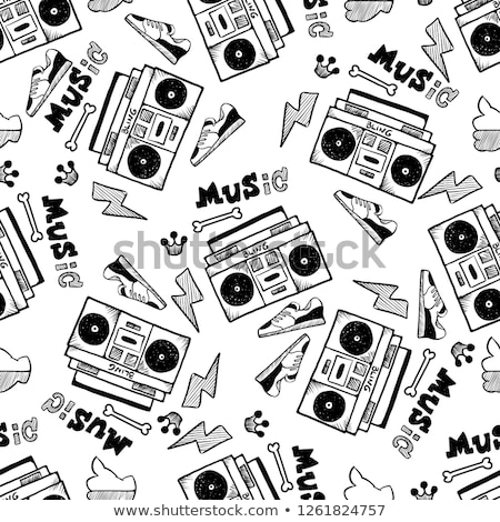 Ingesteld hip hop stijl muziek mode Stockfoto © naum