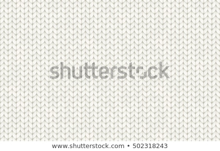 Knitted pattern with wool thread, vector illustration Stock photo © carodi
