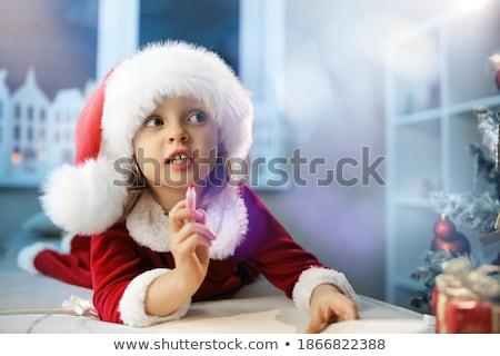 small little girl writing her letter to santa stock photo © ozgur